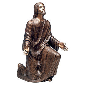 Statue of Jesus in the Gethsemane in bronze 125 cm for EXTERNAL USE s1