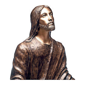 Statue of Jesus in the Gethsemane in bronze 125 cm for EXTERNAL USE s2