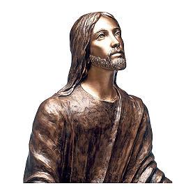 Statua Gesù nel Getsemani bronzo 125 cm per ESTERNO s2