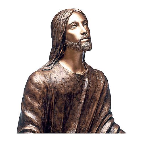 Statua Gesù nel Getsemani bronzo 125 cm per ESTERNO 2