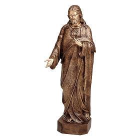 Statua Cristo Misericordioso bronzo 125 cm per ESTERNO s1