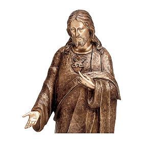Statua Cristo Misericordioso bronzo 125 cm per ESTERNO s2