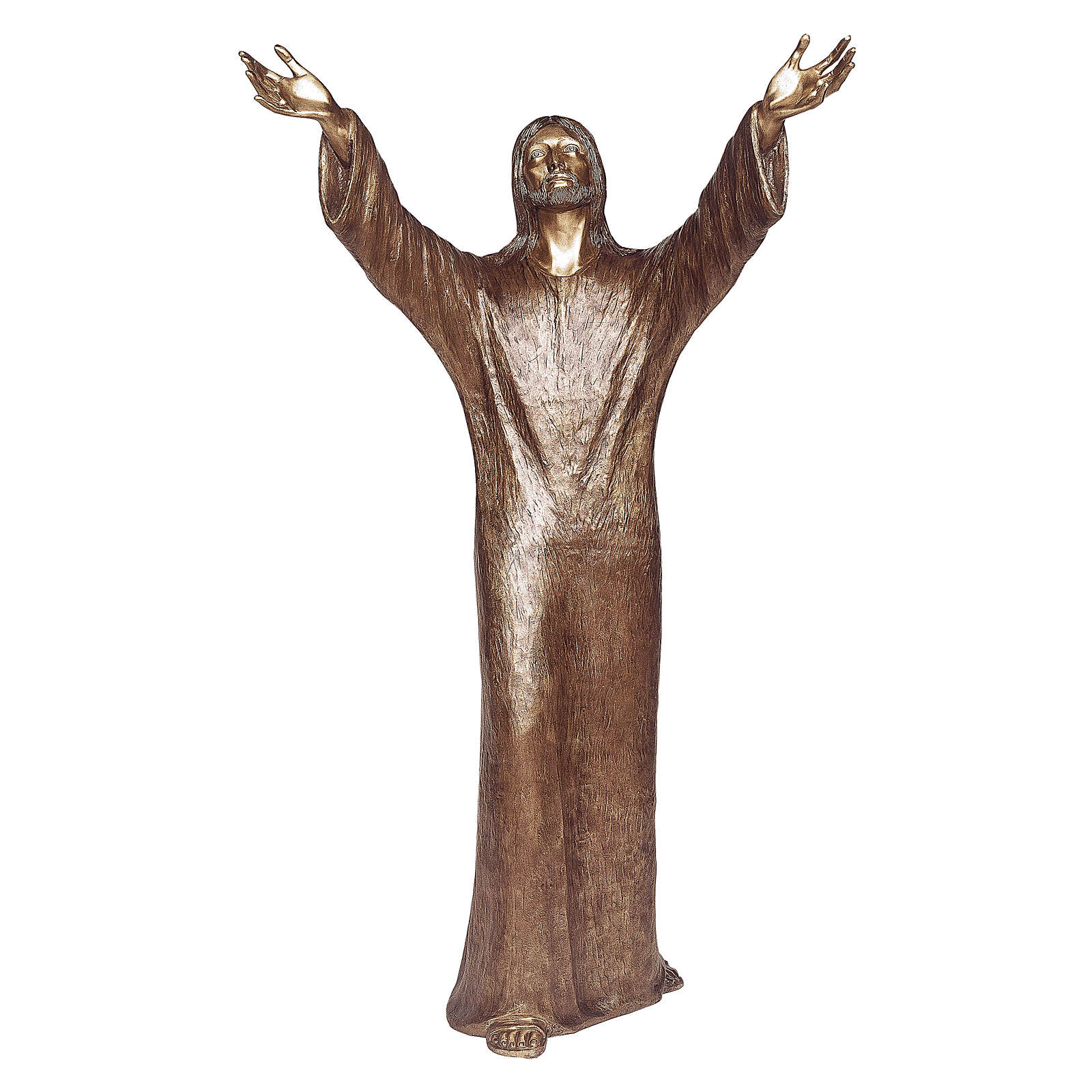Abyss Christ Bronze Statue 100 cm for OUTDOORS 4