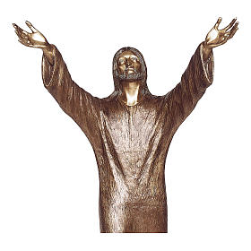 Abyss Christ Bronze Statue 100 cm for OUTDOORS s2
