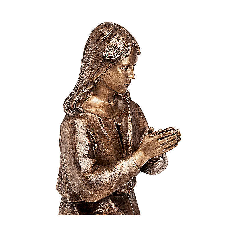 Statua bronzea Donna in preghiera 90 cm per ESTERNO 4