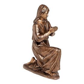 Statua bronzea Donna in preghiera 90 cm per ESTERNO s1