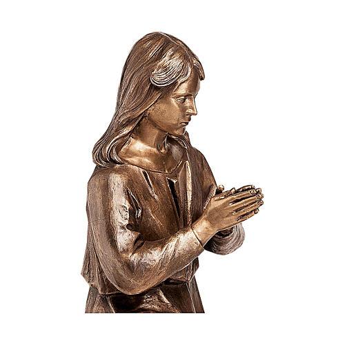 Statua bronzea Donna in preghiera 90 cm per ESTERNO 2