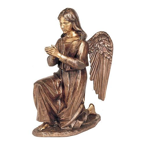 Statua Angelo in preghiera bronzo 80 cm per ESTERNO 1