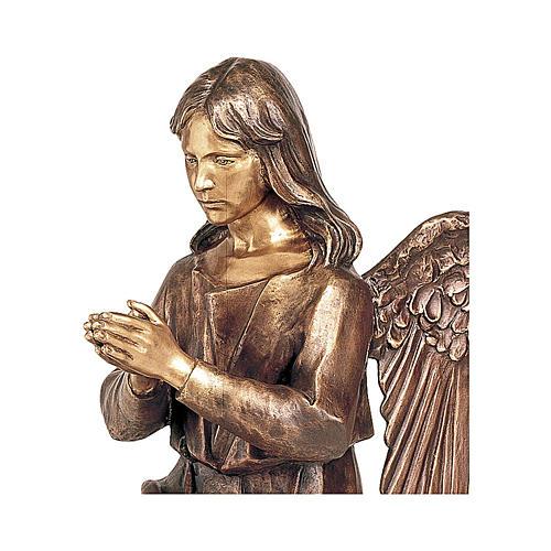 Statua Angelo in preghiera bronzo 80 cm per ESTERNO 2
