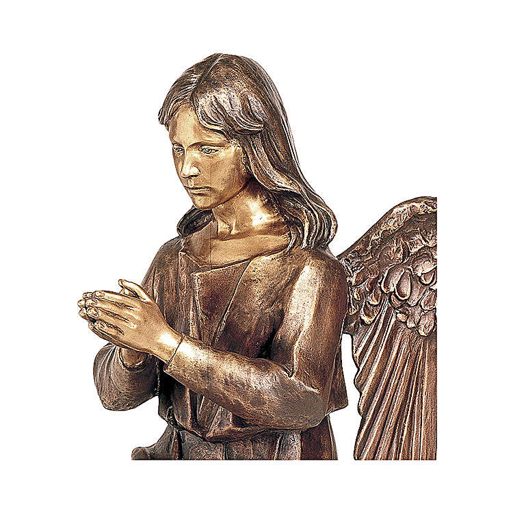 Angel in Prayer Bronze Statue 80 cm for OUTDOORS 4