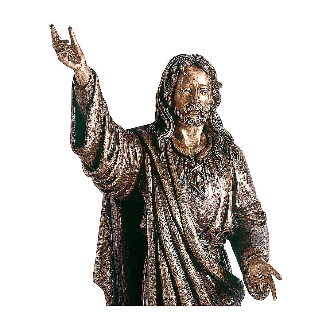 Statue of Lord Jesus in bronze 145 cm for EXTERNAL USE 4