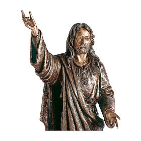 Statue of Lord Jesus in bronze 145 cm for EXTERNAL USE s2