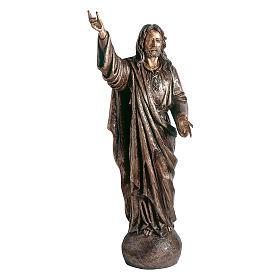Statua Gesù Maestro bronzo 145 cm per ESTERNO s1