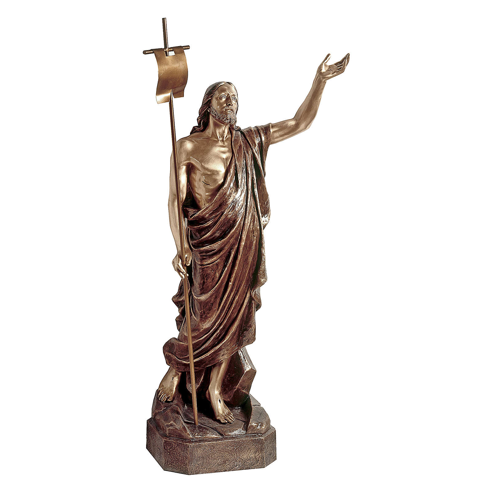 Statue of Risen Christ in bronze 135 cm for EXTERNAL USE 4