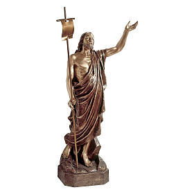 Statue of Risen Christ in bronze 135 cm for EXTERNAL USE s1