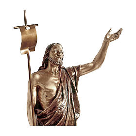 Statua Gesù Risorto bronzo 135 cm per ESTERNO s2