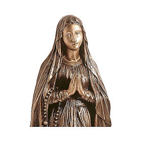 Statue of Our Lady of Lourdes in bronze 80 cm for EXTERNAL USE s2