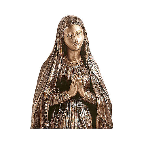 Statue of Our Lady of Lourdes in bronze 80 cm for EXTERNAL USE 2