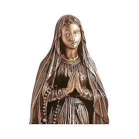Statue Notre-Dame de Lourdes bronze 80 cm POUR EXTÉRIEUR s2