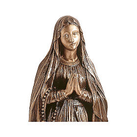 Statue of Our Lady of Lourdes in bronze 110 cm for EXTERNAL USE s2