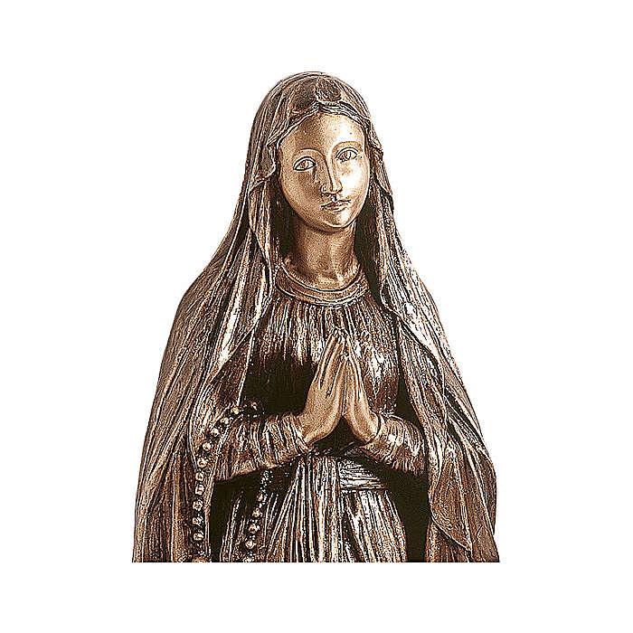 Estatua Nuestra Señora de Lourdes bronce 110 cm para EXTERIOR 4