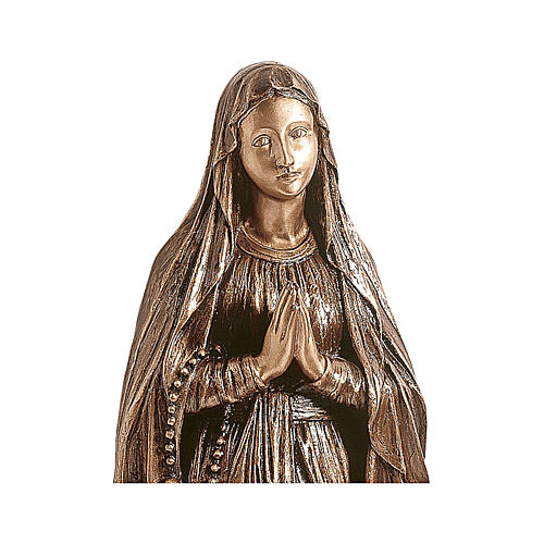Estatua Nuestra Señora de Lourdes bronce 110 cm para EXTERIOR 2