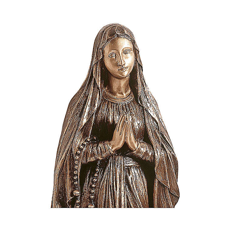 Statue of Our Lady of Lourdes in bronze 150 cm for EXTERNAL USE 4