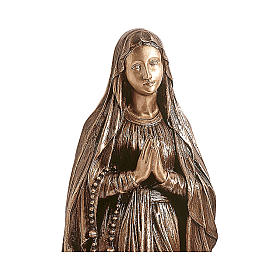 Statue of Our Lady of Lourdes in bronze 150 cm for EXTERNAL USE s2