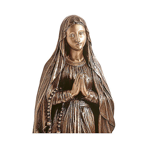Statue of Our Lady of Lourdes in bronze 150 cm for EXTERNAL USE 2
