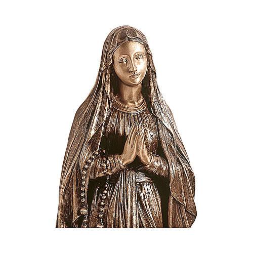 Statue bronze Notre-Dame de Lourdes 150 cm POUR EXTÉRIEUR