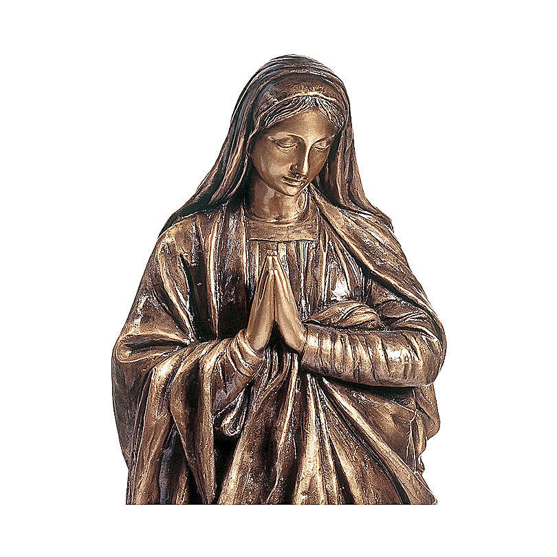 Devotional statue of the Virgin Mary in bronze 100 cm for EXTERNAL USE 4