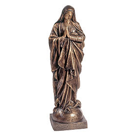 Devotional statue of the Virgin Mary in bronze 100 cm for EXTERNAL USE s1