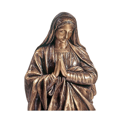 Devotional statue of the Virgin Mary in bronze 100 cm for EXTERNAL USE 2