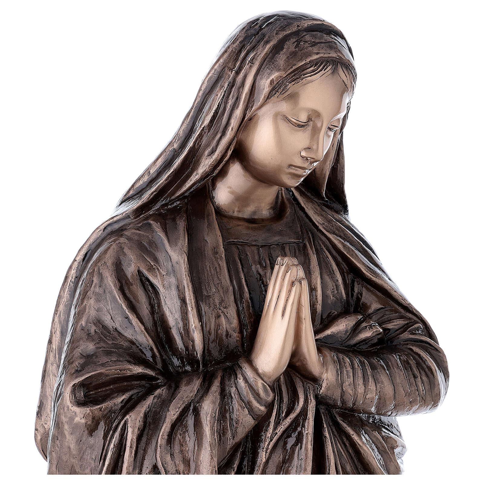 Statue religieuse Vierge Marie bronze 110 cm POUR EXTÉRIEUR 4