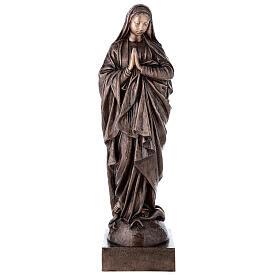 Statue religieuse Vierge Marie bronze 110 cm POUR EXTÉRIEUR s1