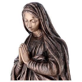 Statue religieuse Vierge Marie bronze 110 cm POUR EXTÉRIEUR s2