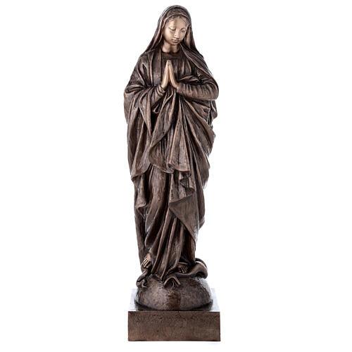 Statue religieuse Vierge Marie bronze 110 cm POUR EXTÉRIEUR 1