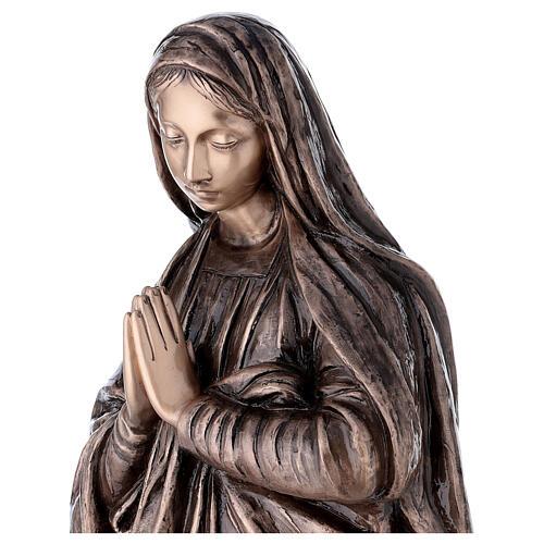 Statue religieuse Vierge Marie bronze 110 cm POUR EXTÉRIEUR 2