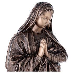 Statua devozionale Maria Vergine bronzo 110 cm per ESTERNO s4