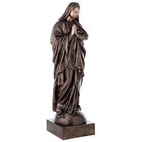 Statua devozionale Maria Vergine bronzo 110 cm per ESTERNO s5