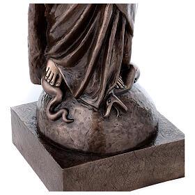 Statua devozionale Maria Vergine bronzo 110 cm per ESTERNO s7