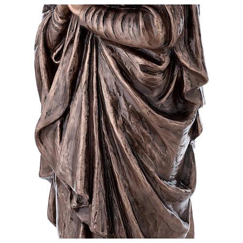 Statua devozionale Maria Vergine bronzo 110 cm per ESTERNO 6