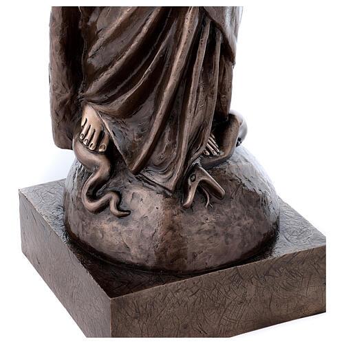 Statua devozionale Maria Vergine bronzo 110 cm per ESTERNO 7