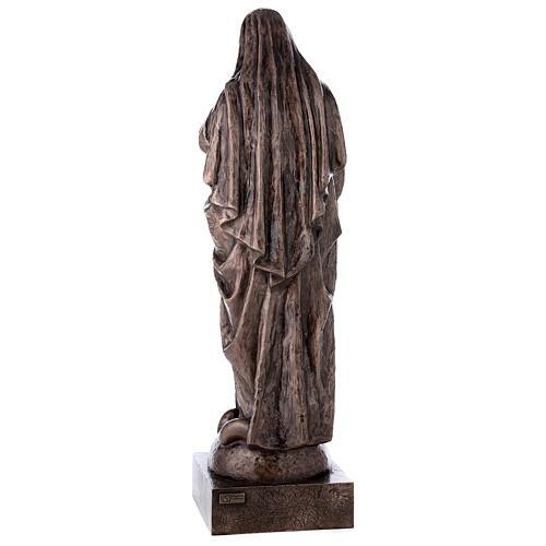 Statua devozionale Maria Vergine bronzo 110 cm per ESTERNO 8