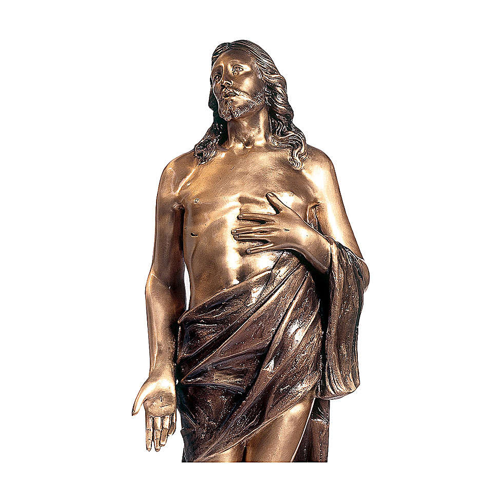 Statue of Dead Christ in bronze 110 cm for EXTERNAL USE 4