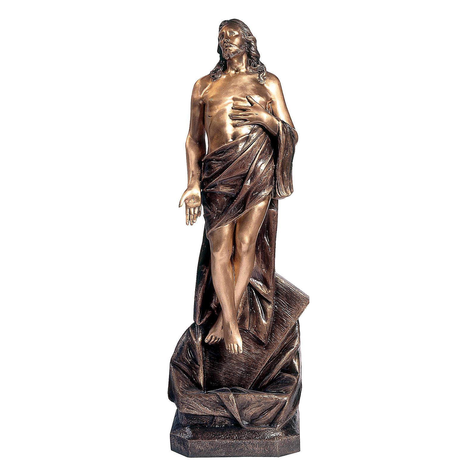 Statua Cristo morto bronzo 110 cm per ESTERNO 4