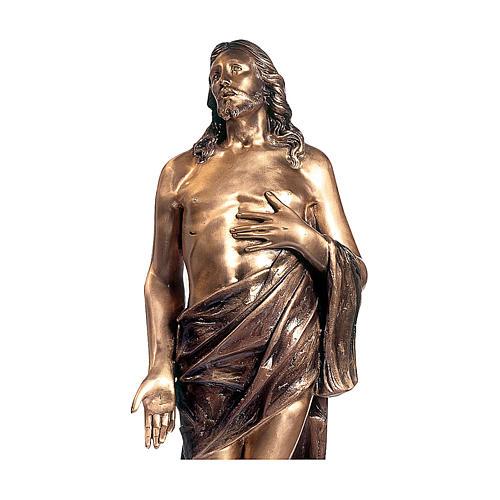 Statua Cristo morto bronzo 110 cm per ESTERNO 2