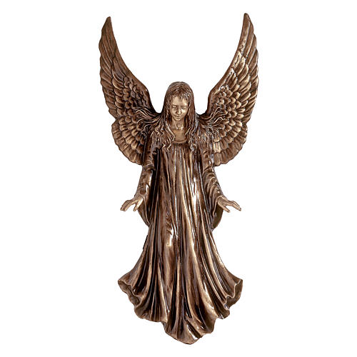 Statue of Angel for wall in bronze 110 cm for EXTERNAL USE 1