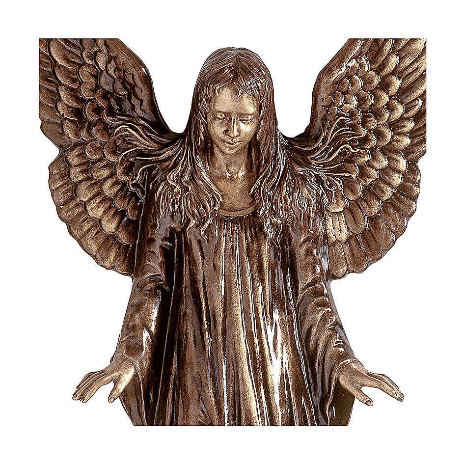 Statua Angeli parete bronzo 110 cm per ESTERNO 4