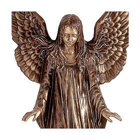Statua Angeli parete bronzo 110 cm per ESTERNO s2